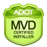 ADOT MVD Certified Installer Badge